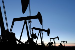 oil pumpjack silhouettes
